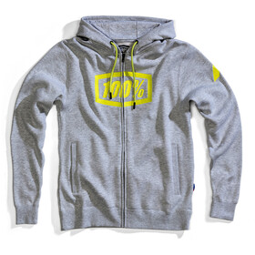 100% Syndicate Veste à capuche Zip Homme, grey heather